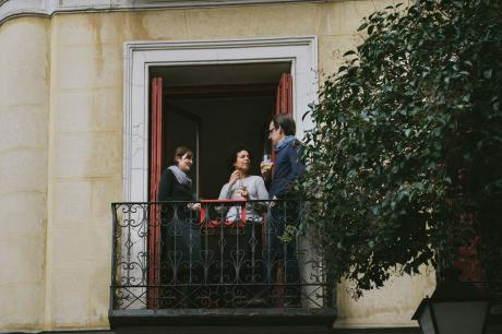 mesita para balcón