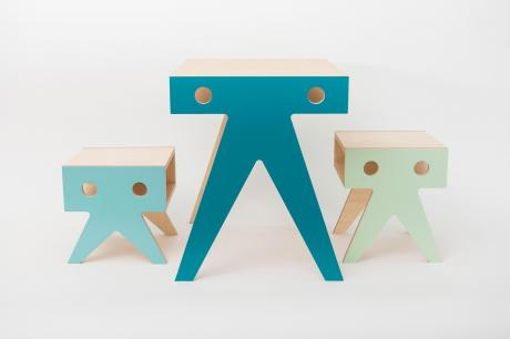 Table and stools for kids